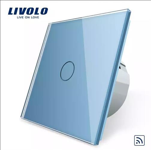 מפסק טאצ' Livolo זכוכית קריסטלית כחול שמיים לבחירה וילון,תאורה,דימר,טיימר,שלט רחוק