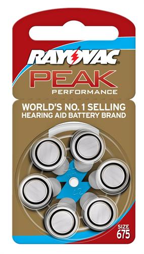 סוללות למכשיר שמיעה Rayovac  אנגליה - מידה 675