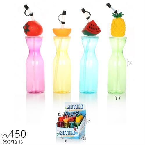 כוס קש פירות 450 מל