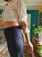 מכנסי בד מחויטים אלגנטים מידה S/M