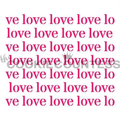 סטנסיל LOVE