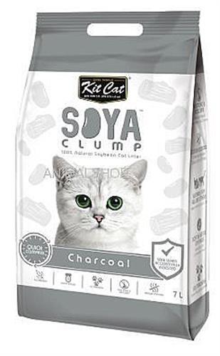 חול מתגבש לחתול על בסיס סויה בתוספת פחם פעיל 7 ליטר