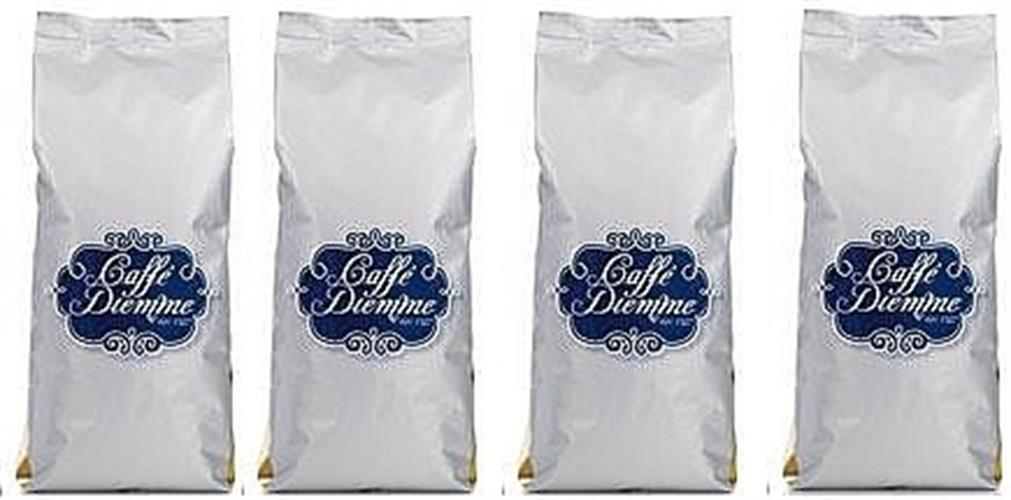 קפה דיאמה אורו- Caffe Diemme Oro פולים 1 קג (4 שקיות של 250 גרם לשמירת הארומה)