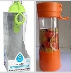 בלנדר שייקר קומפקטי נייד ונטען עם בקבוק DAFI לסינון מים