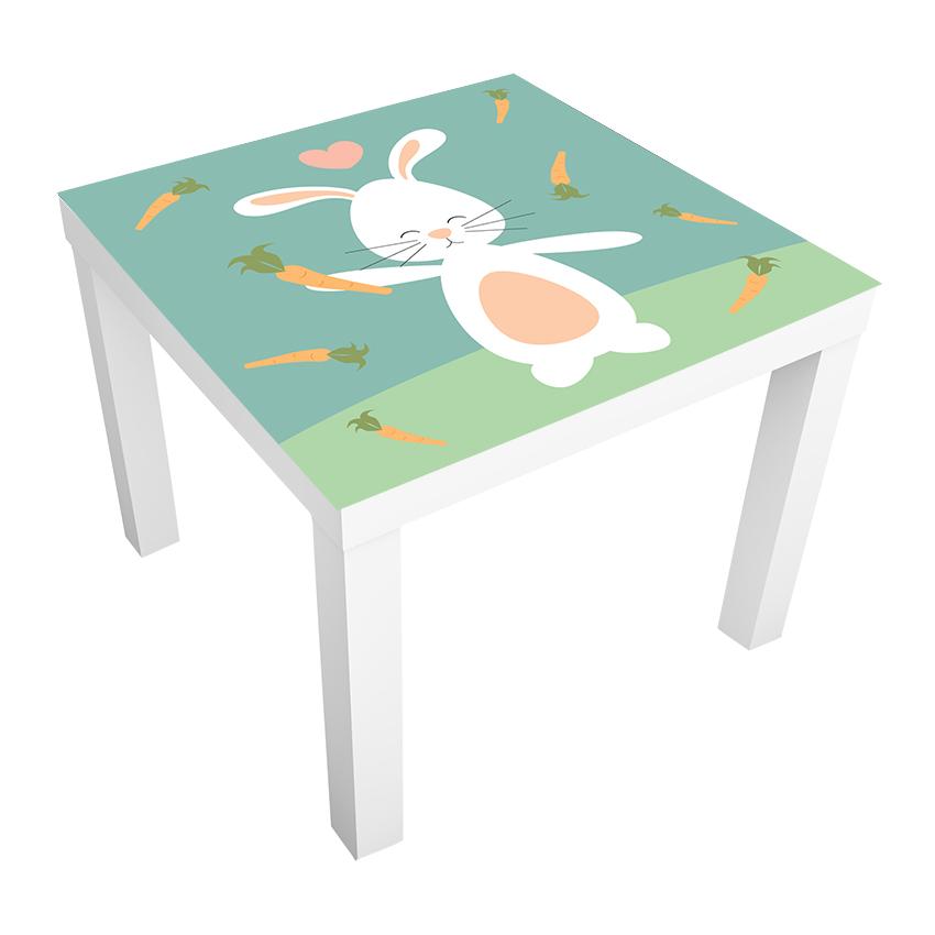 1 יח' טפט דביק מותאם לשולחן (LACK)- שפן רקע ירוק