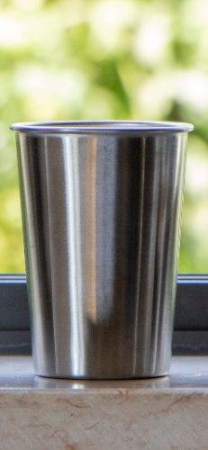 """כוס נירוסטה רב פעמית 350 מ""""ל"""