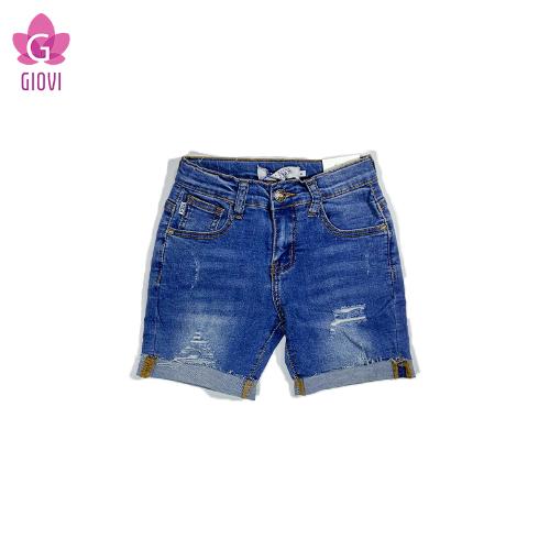 מכנס ג'ינס קצר נערים כחול