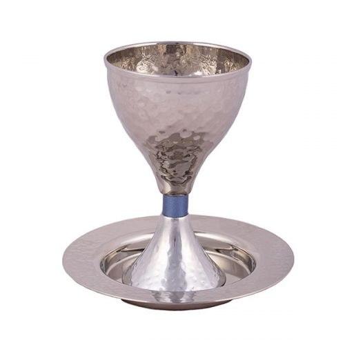 גביע קידוש - עבודת פטיש - כחול