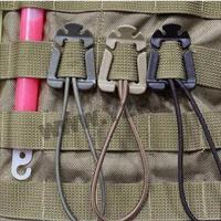 קליפס אבטחה ושיפצור לקיבוע עם רצועת גומי  למערכת מולי MOLLE לתיק ווסט לוחם