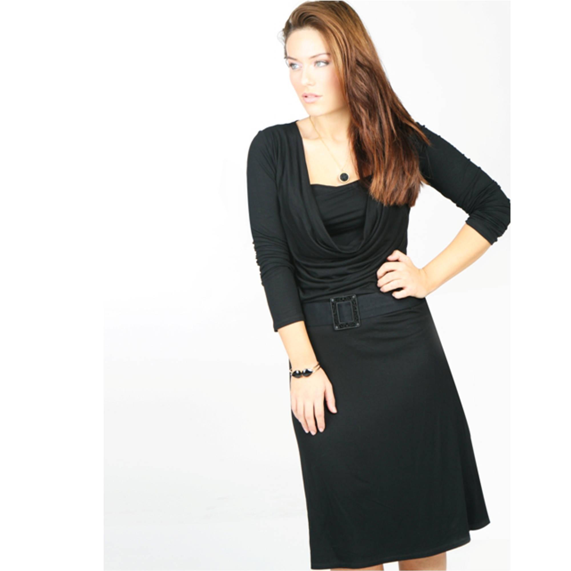 שמלת הנקה רבידה שרוול ארוך NursingAnywear
