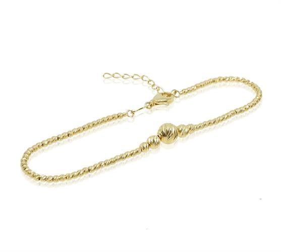 צמיד זהב כדורי לאישה או נערה דגרדה