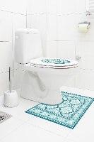 עיצוב איזור האסלה – מדבקה (39 ₪) שטיחון (88 ₪) סט (119 ₪) רחביה טורקיז TIVA DESIGN