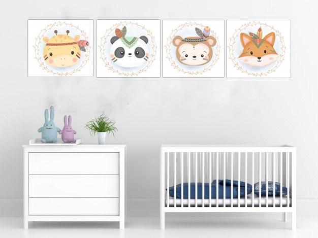 תמונות לחדר ילדים דמויות חיות
