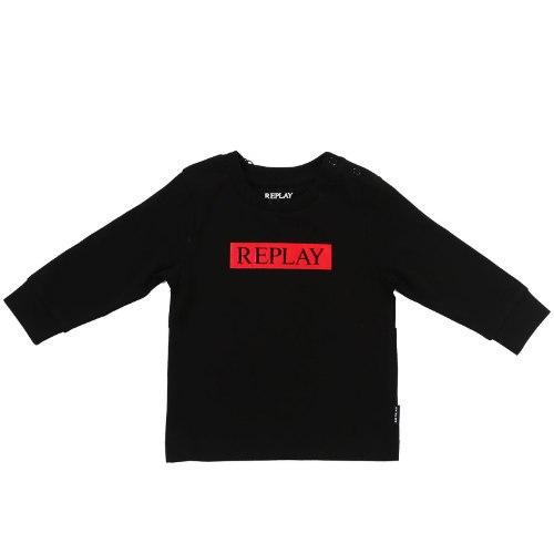 חולצת T שחורה פס אדום