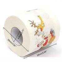 נייר טואלט עם איורים לחג המולד - כיף של עיצובים
