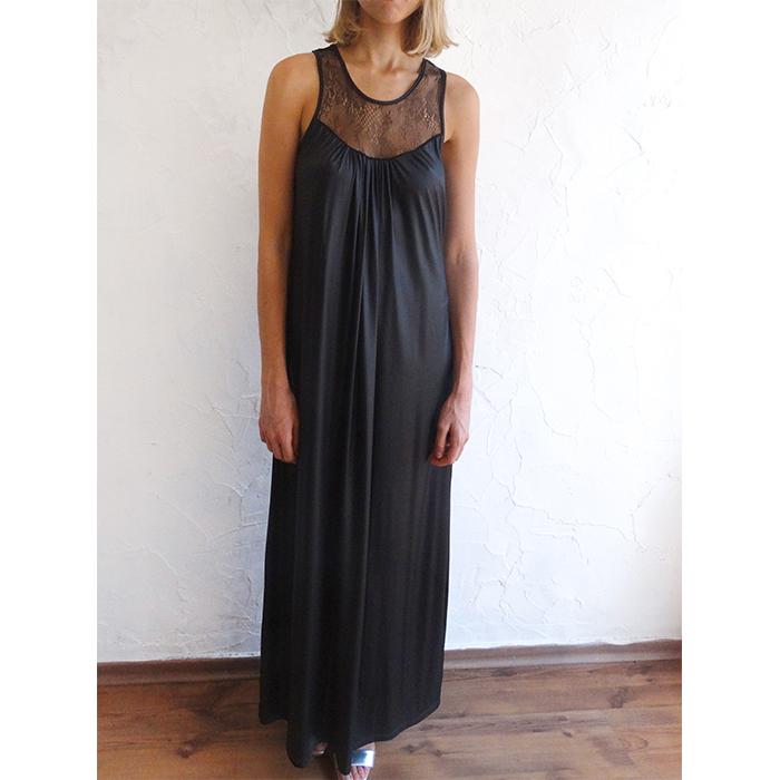 שמלת EVER פוייל שחור