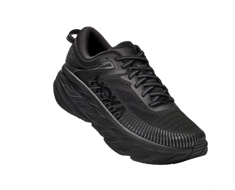 נעלי ריצה לגברים HOKA BONDI 7 X-WIDE בצבע שחור
