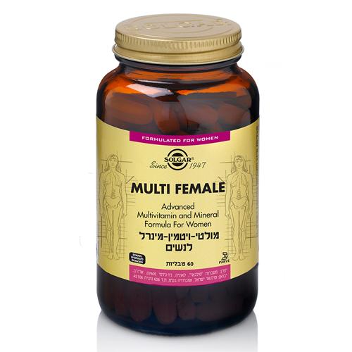 מולטי ויטמין מינרל לנשים ,60 טבליות ,סולגאר