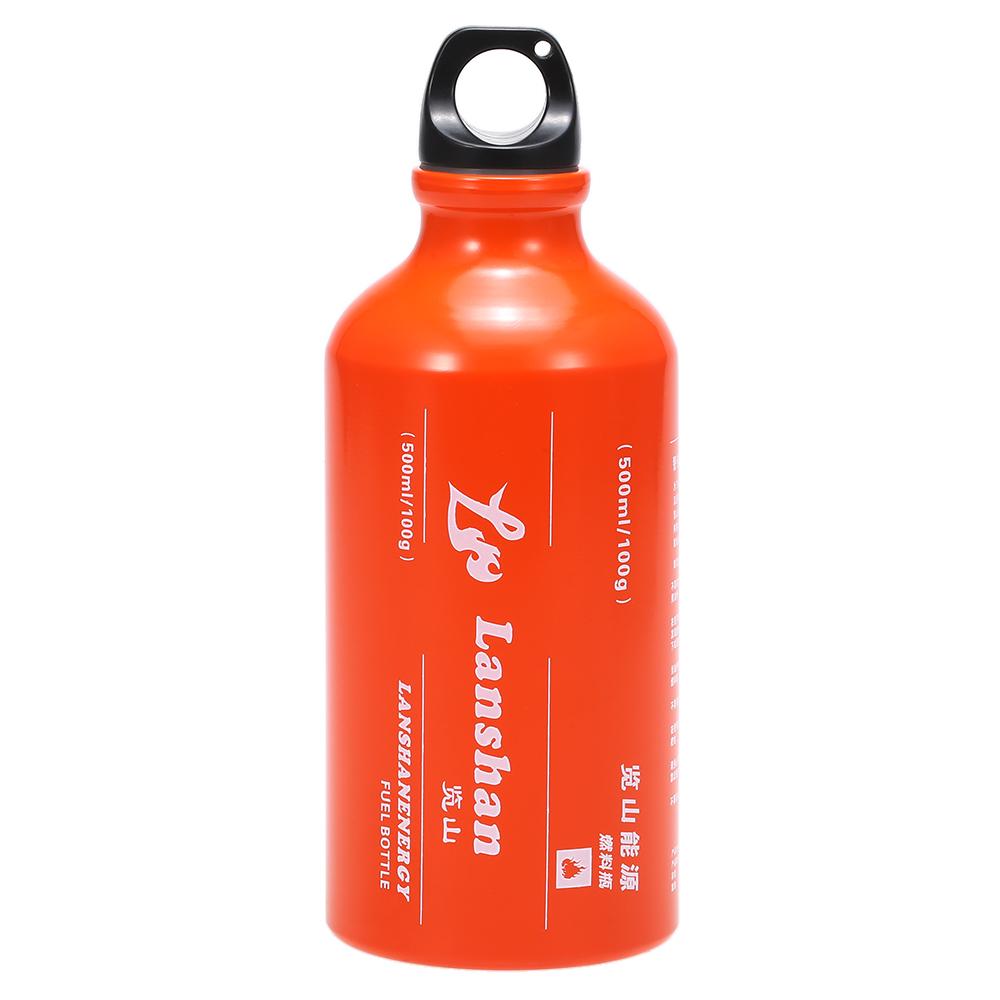 """בקבוק אלומיניום 500 מ""""ל לכוהל / דלק"""