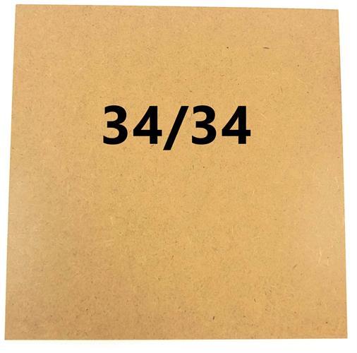 מארז 10 יחידות - משטח MDF גלוי במידה 34/34