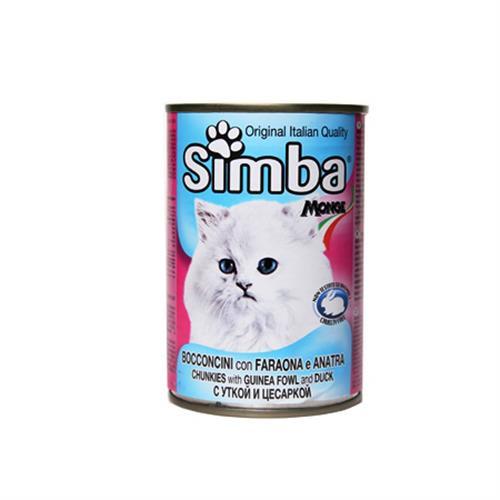 שימורי סימבה פניניות וברווז לחתול 415 גרם