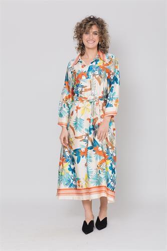 שמלת כרכום שמנת