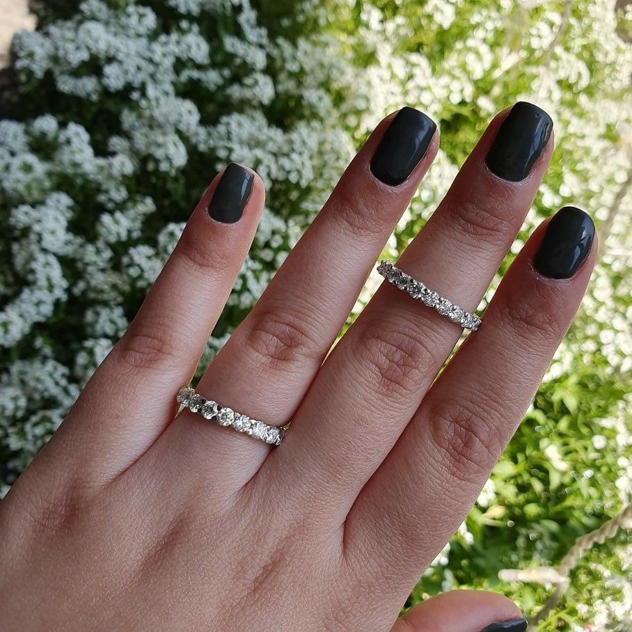 טבעת יהלומים 2.6 קראט טבעת שורה יהלומים טבעת נצח