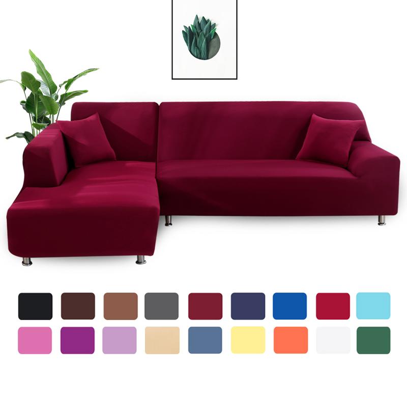 כיסויים מהממים לספות L בצבעים אחידים - 2 ציפיות לכרית מתנה!
