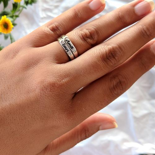 טבעת חותם דקה כסף