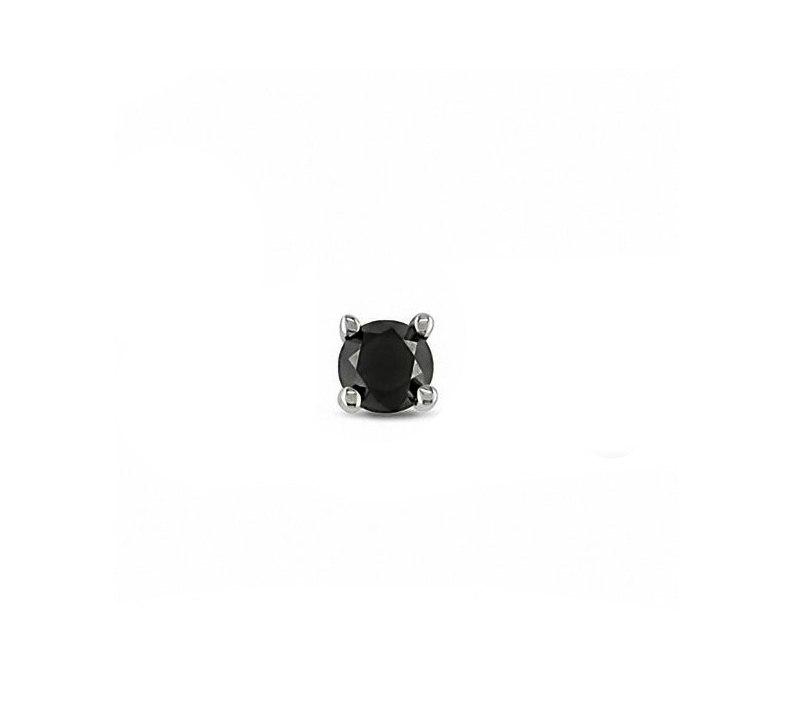 עגיל יהלום שחור לגבר 0.15 קראט