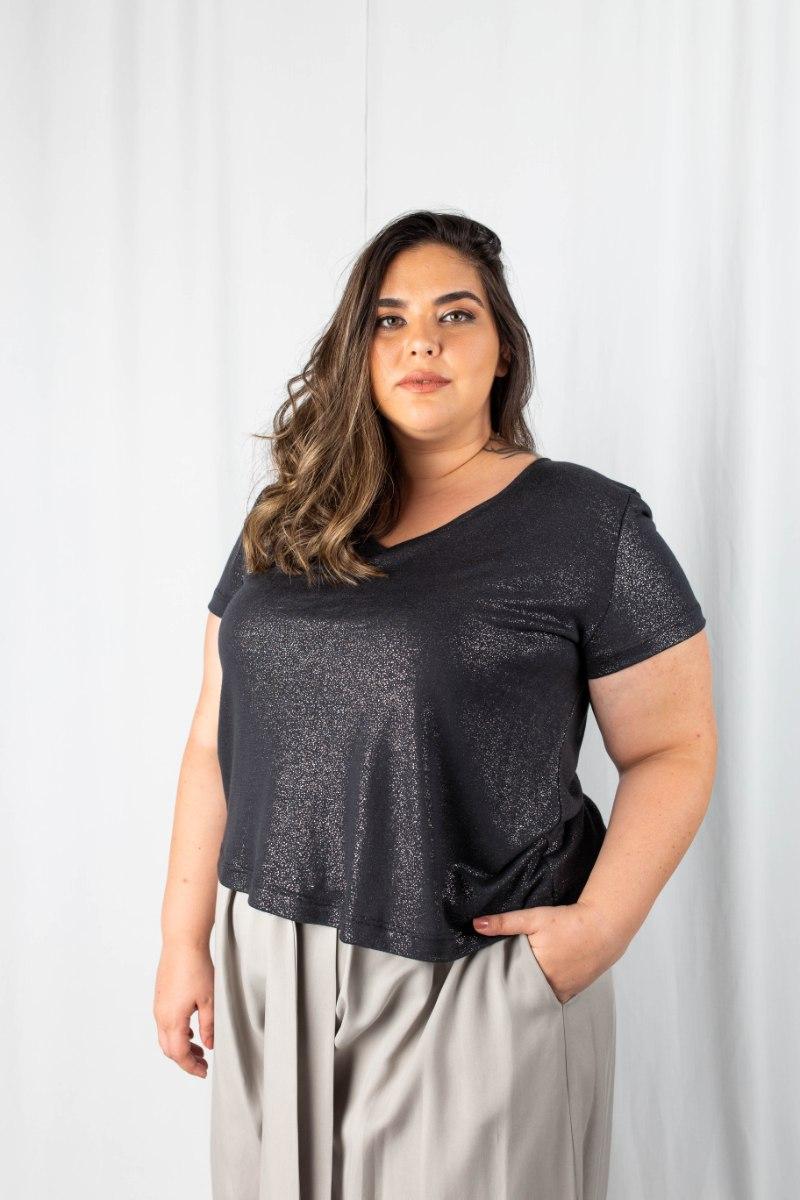 חולצת T ג'וליין אפור