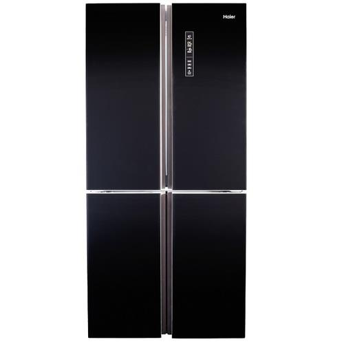 מקרר 4 דלתות HAIER דגם HRF620FB שחור זכוכית