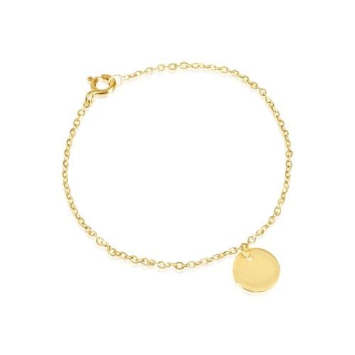 צמיד זהב חריטה לנערה|צארם פלטה