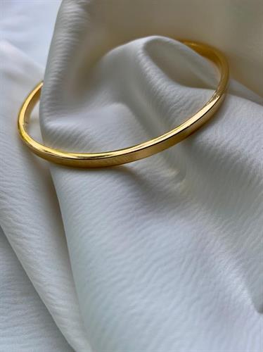 צמיד מלבן דק זהב