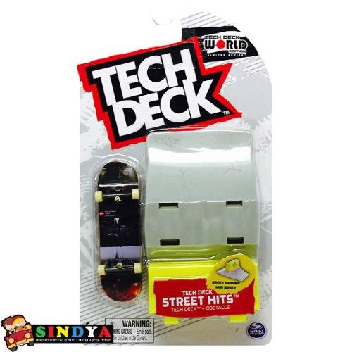 טק דק סקייטבורד אצבעות + רמפה קטנה - TECH DECK jersey barrier