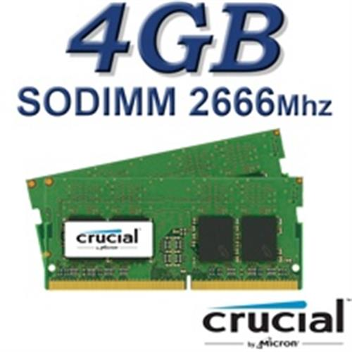 זיכרון למחשב נייד 4GB 2666Mhz Crucial CT4G4SFS8266