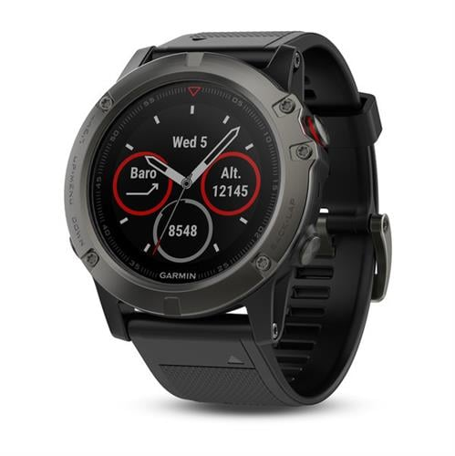 Garmin Fenix 5X Sapphire with Black Band  שעון דופק