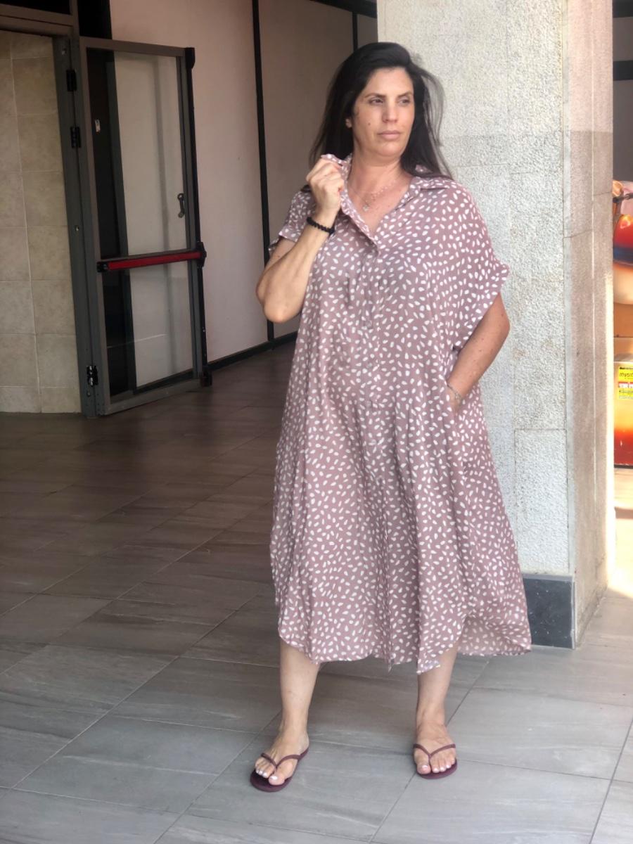 שמלת רוקסן נקודות פודרה
