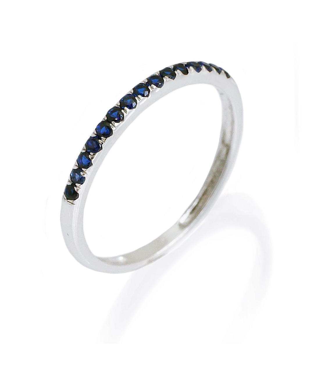 טבעת מידי זהב ואבני ספיר כחולות 0.25 קראט