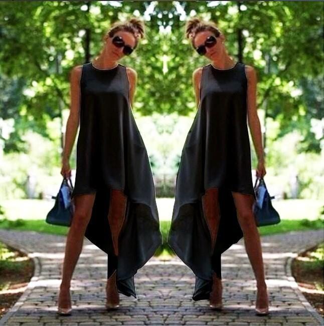 שמלה אופנתית מעוצבת אסימטרית