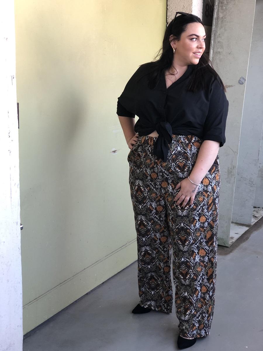 מכנס קואטרו מנוחש