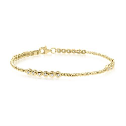 צמיד זהב עם זרקונים (מתאים גם לרגל)