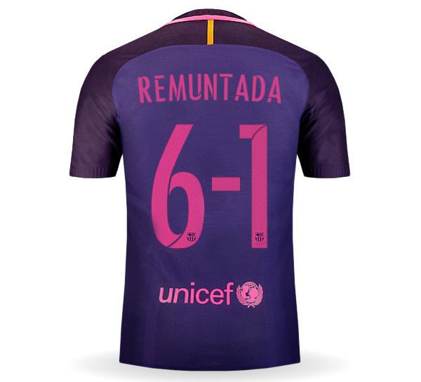 חולצת משחק ברצלונה חוץ REMUNTADA מהדורה מוגבלת!