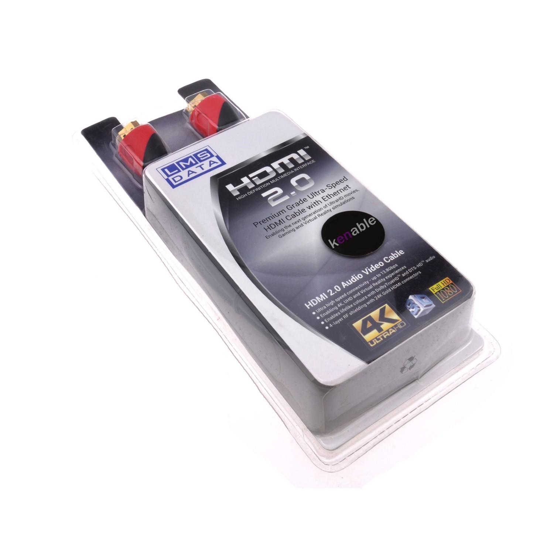 כבל HDMI לחיבור HDMI באורך 1 מטר LMS DATA בבליסטר