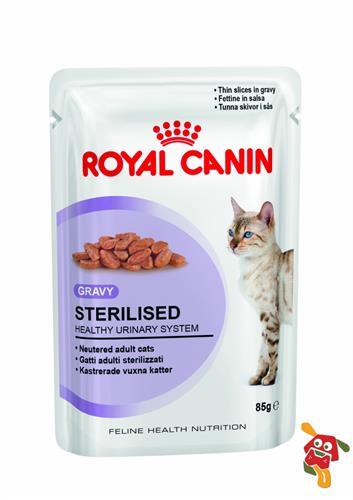 רויאל קנין מעדן לחתול מסורס חתיכות ברוטב 85 גרם