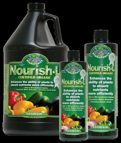 נוריש אל 500 מל MicrobeLife Hydroponics Nourish-L Organic Humic Acid