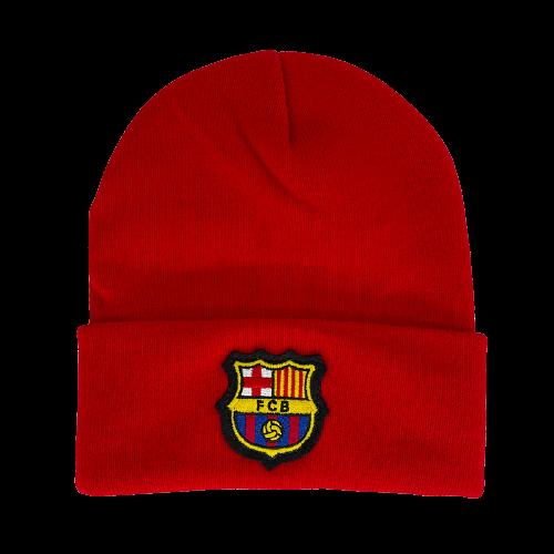 כובע צמר אדום ברצלונה