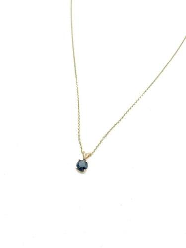 שרשרת יהלום שחור זהב 14 קראט