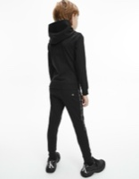 Ck חליפת קפוצון שחור לוגו לבן מידות 4-16