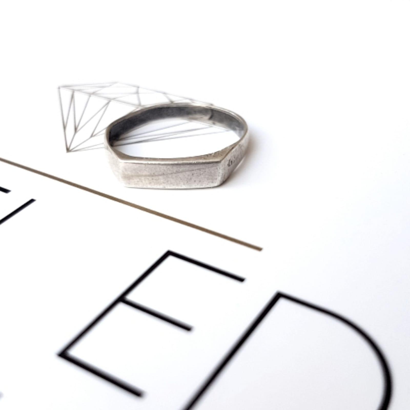 טבעת שורה כסף 925